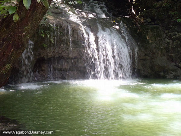 waterfall at siete altares