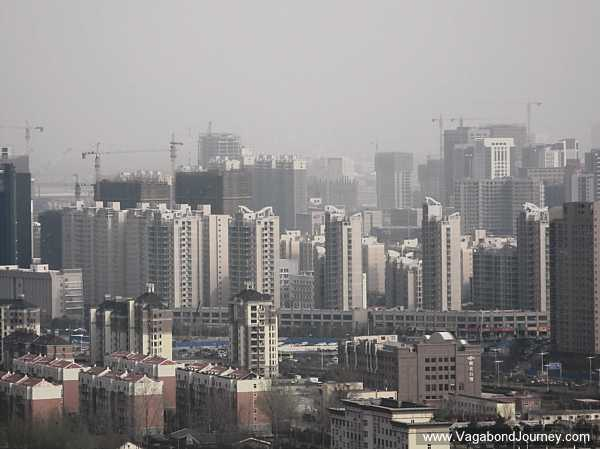 A sea of high-rises stretching across Zhengdong New District