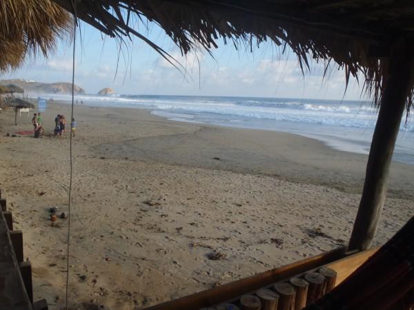 Beach erosion at Zipolite