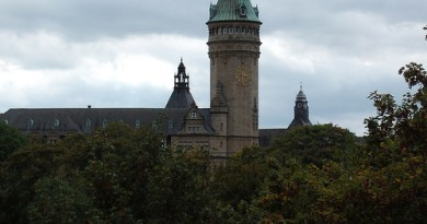 a luxembourg skyline