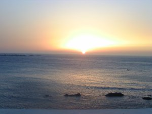 Sunset in Playa Blanca, Tangier, Morocco