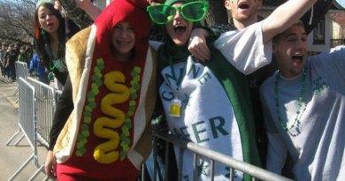 slackville road by girl in hot dog suit