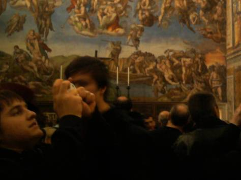 illegal pictures in the Cistine Chapel