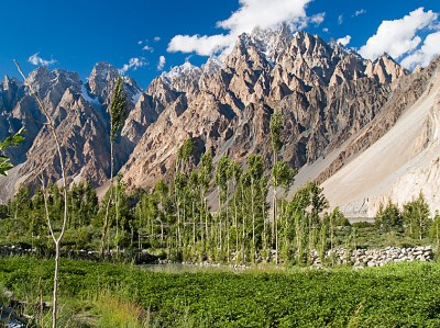 The Passu Cathedrals, stunning mountain scenery of the Karakoram