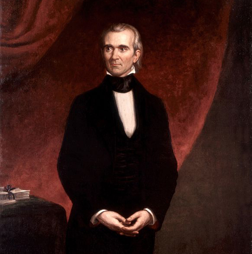 James Knox Polk by GPA Healy, 1858 George Peter Alexander Healy [Public domain], via Wikimedia Commons