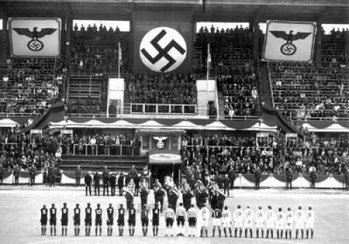 A football match - Nazi style