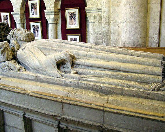 Tomb of King Athelstan in Malmesbury Abbey