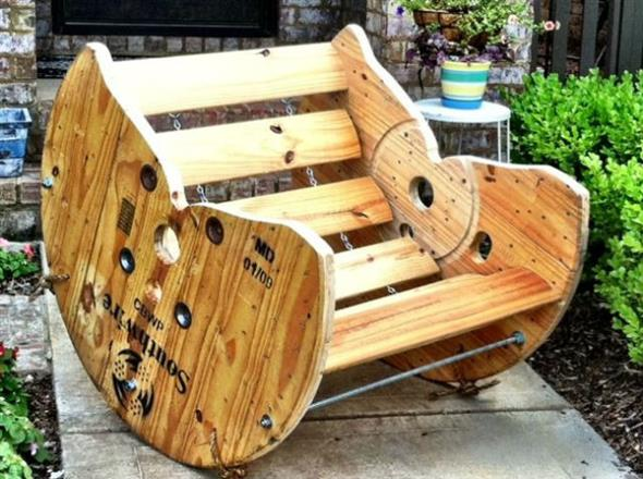 Wooden Spool Chair Lovingheartdesigns