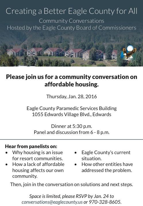 Creating a Better Eagle County- Community Convos VVP Events Calendar