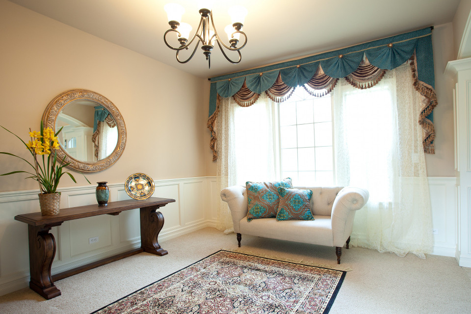 Valances and Curtains - Elegant Swags and Jabots, Pelments, Fancy - modern valances for living room
