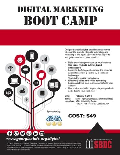 VSU Small Business Development Center to Host Digital Marketing Boot