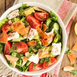 fattoush salad with feta