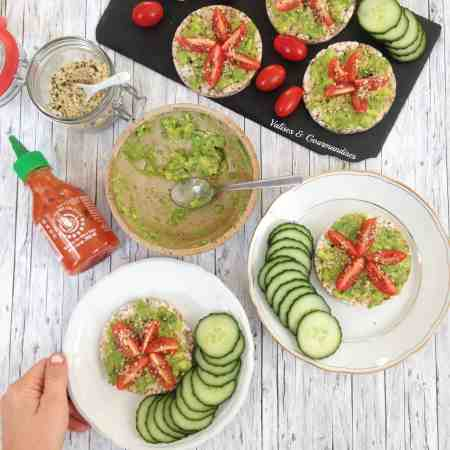 Basic vegan avocado toast