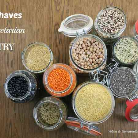 Must-haves of a vegetarian pantry