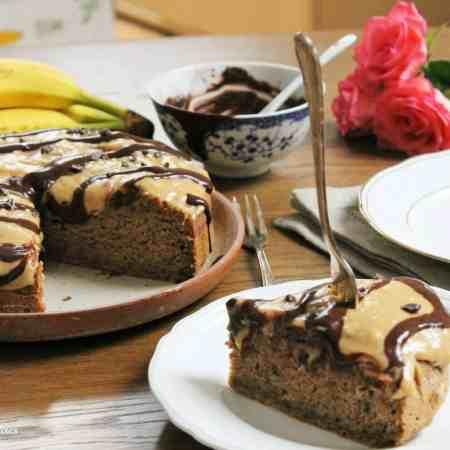 healthy banana cake