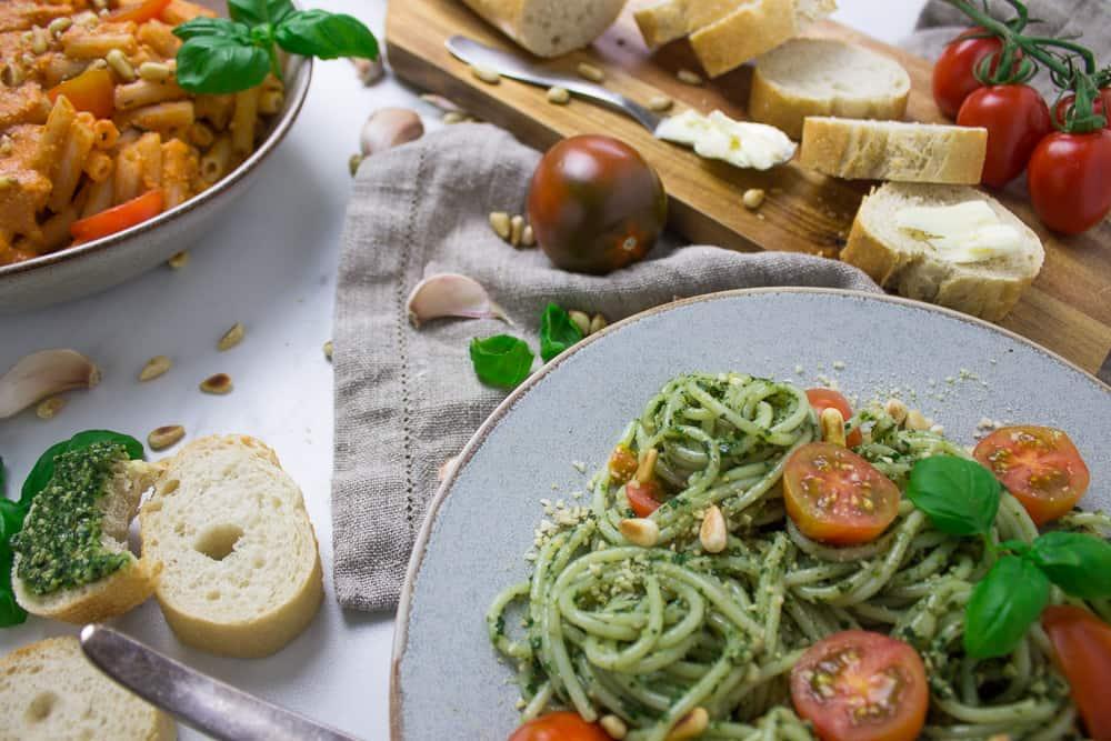 Giveaway Vegan Weeknight Pasta Pesto Spaghetti And