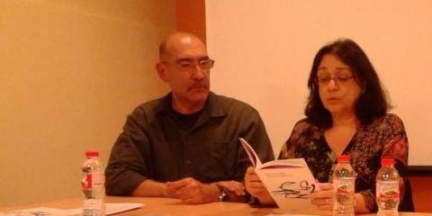 Los poetas Rodolfo Häsler y Mercedes Roffé
