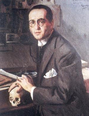 El escritor, periodista y director de la revista Colónida en retrato, Abraham Valdelomar