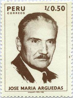 Estampilla peruana en honor al narrador y poeta José María Arguedas.