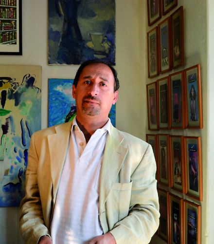 El poeta Sergio Rodríguez Saavedra.