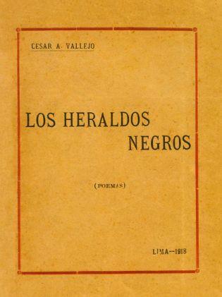 """Primera edición de """"Los heraldos negros"""" (1919) de César Vallejo."""