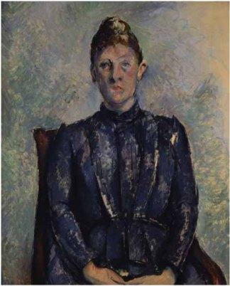 "Cuadro ""Retrato"" de la esposa de Paul Cézanne, por Paul Cézanne"