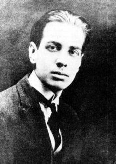 El escritor Jorge Luis Borges en su juventud. 1921