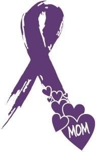Alzheimers Purple Ribbon
