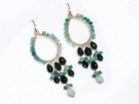 Blue Tourmaline and Black Tourmaline Chandelier Earrings ...