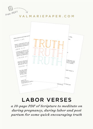 Praying Through Pregnancy \u2022 Val Marie Paper