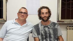 Da sinistra Davide Meinardi, nuovo capogruppo M5S Caselette, e Ruben Borello, neo-consigliere M5S Caselette