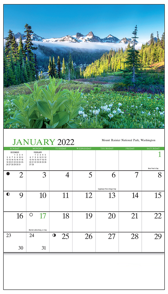 2019 Scenic America (Mini) Calendar 6-1/2\