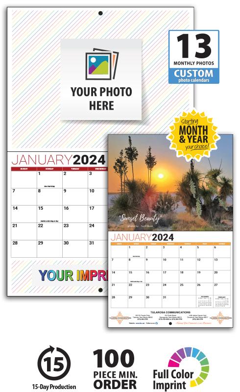 2019 13 Month Custom Photo Wall Calendar, Stapled 11\