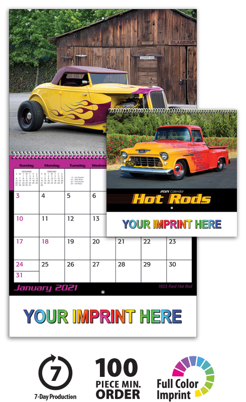Wall Calendar Custom Printing Personalized Photo Calendars 2018 Vistaprint 2018 Hot Rod Spiral Calendar 10 12quot; X 18 14