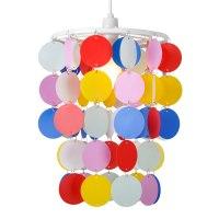 Girls Modern Multi Coloured Polka Dot Spots Ceiling ...