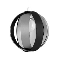 Modern Round Black Grey Fabric Ceiling Light Pendant Lamp ...