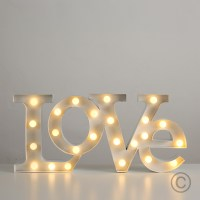 Modern Battery Operated Warm White LED Decorative Love ...