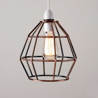 Copper Vintage Industrial Style Cage Ceiling Pendant Light ...