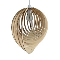 Modern Wooden Droplet Ceiling Pendant Light Shade Lounge ...