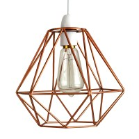 Modern Copper Wire Frame Ceiling Light Pendant Shade