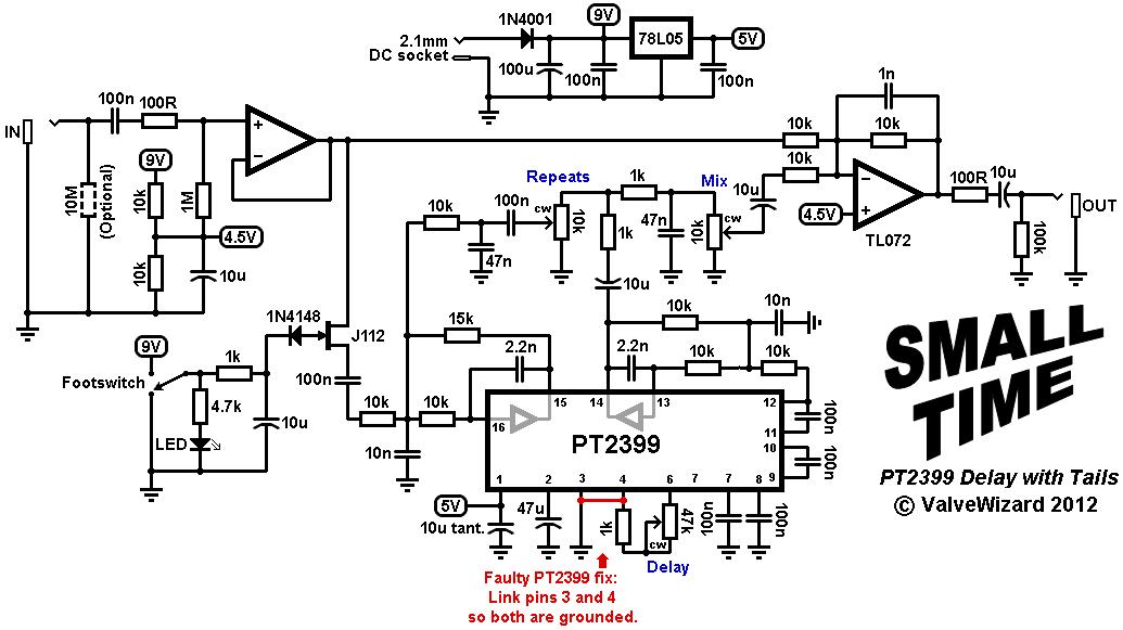 echo schematic circuit