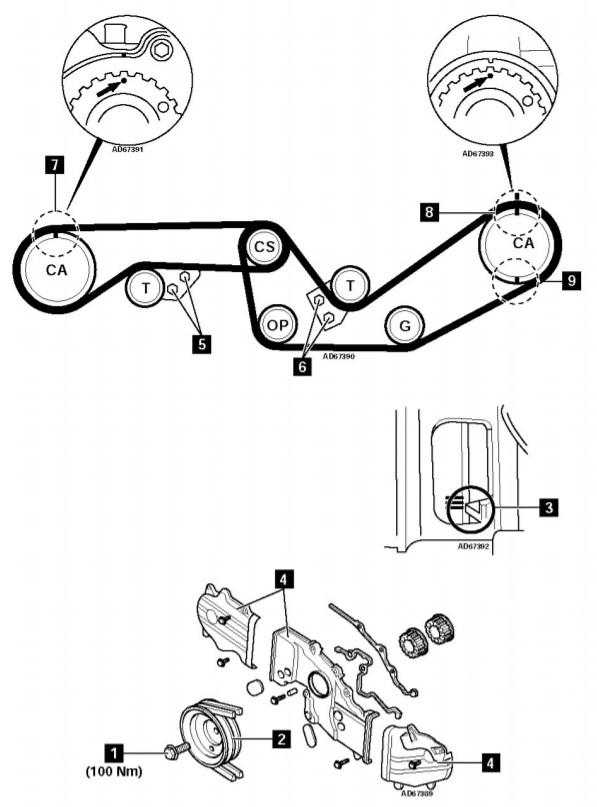 diagrama motor subaru ea82