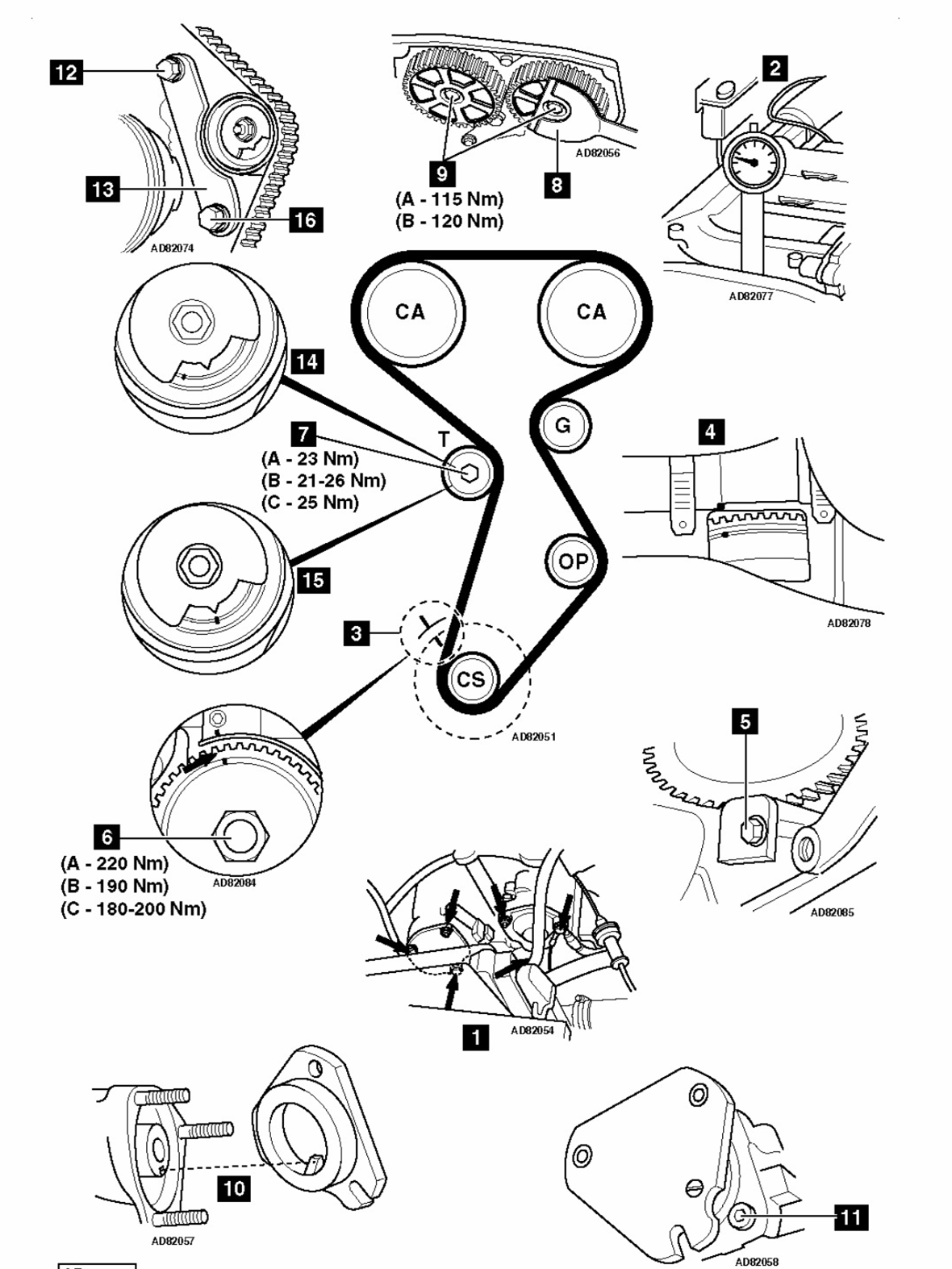 honda 16 valve Diagrama del motor