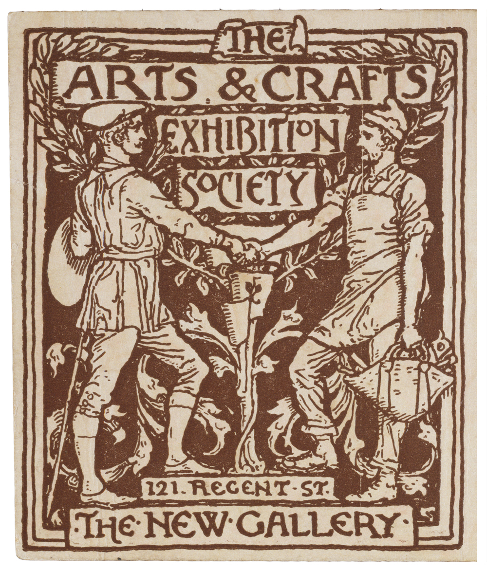 Detail from a season ticket for the arts crafts exhibition society by walter crane england uk 1890 museum no e 4164 1915 victoria albert museum