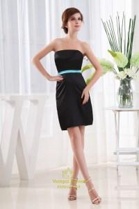 Strapless Little Black Dress, Short Black Strapless ...
