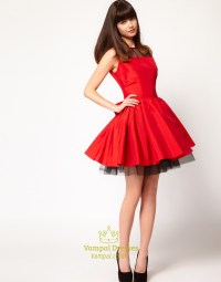 Red And Black Short Homecoming Dresses, Red Dresses For ...