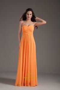 Gorgeous Orange Sweetheart Strapless Ruffles Long Summer ...
