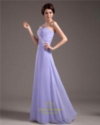 Lavender Bridesmaid Dresses Chiffon,Lavender One Shoulder