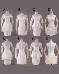 Short Off White Lace Bridesmaid Dresses,White Lace Dress ...