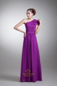 One Shoulder Purple Bridesmaid Dresses Uk - Bridesmaid Dresses